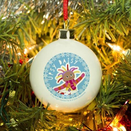 Personalised  In The Night Garden Upsy Daisy Snowtime Bauble